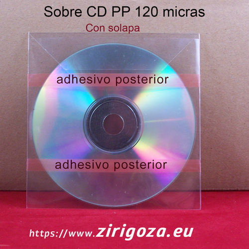 Envelopes CD PP 120 µ  2 Adhesive bands in the loin