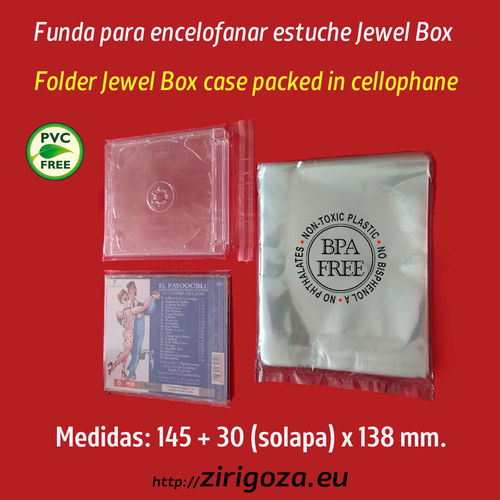 Funda para retractilar cajas CD jewel  (estándar)