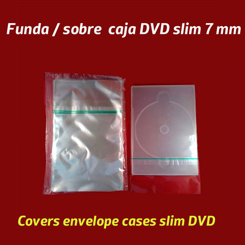 Funda para retractilar cajas DVD slim (delgadas)