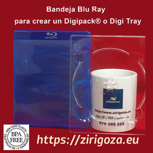 Blu Ray Digipack® Digi Tray transparente