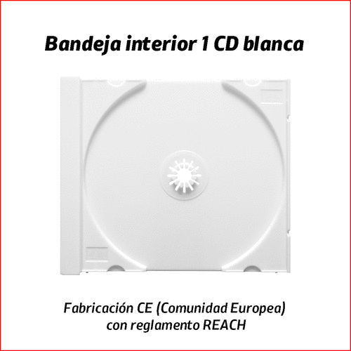 1 CD tray white