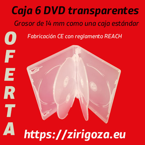 6 transparent DVDs