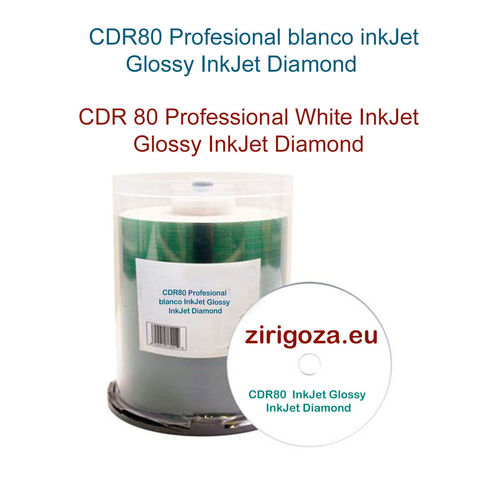 Professional CD White Glossy InkJet Diamond
