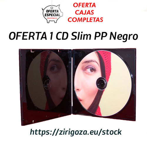 OFERTA 1 CD Slim PP Negro