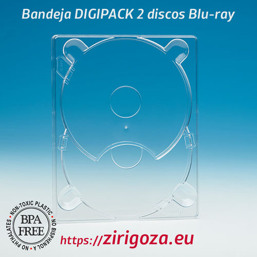 Blu Ray 2 Digipack® Digi Tray transparente