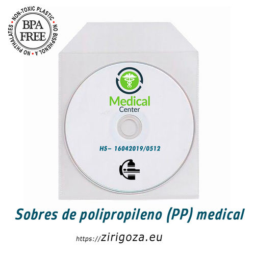 Sobre CD/DVD PP MEDICAL con solapa