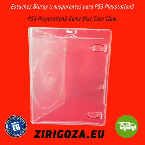 Estuches Bluray transparentes para PS3 Playstation3