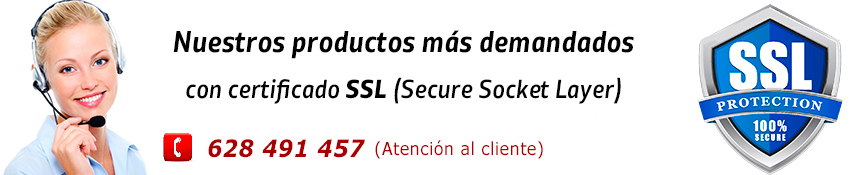 Nuestros productos más demandados con certificado SSL (Secure Socket Layer)